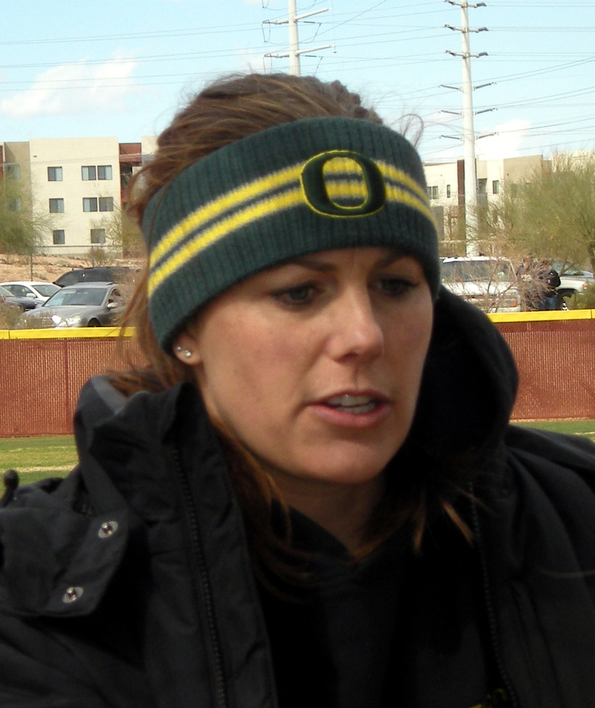 Oregon assistant softball coach Lisa Dodd